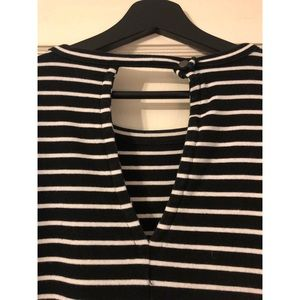 Madewell Dresses - Madewell size XL stripped black and white dress